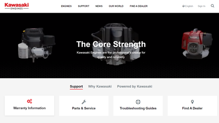 Kawasaki Engines The Core Strength 220 Engine Diagram New Website Launch For Europe