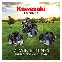 4-stroke V-Twin engines for professional turfcare